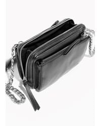 & Other Stories | Black Silver Chain Leather Crossover | Lyst