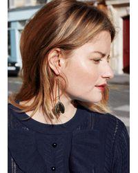 & Other Stories | Metallic Butterfly Pendant Earrings | Lyst