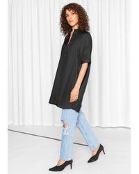 & Other Stories | Black Oversized Shirt Dress | Lyst