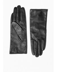 & Other Stories | Black Leather Gloves | Lyst