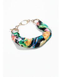 & Other Stories - Black Tropical Wrap Scarf Bracelet - Lyst