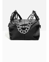 & Other Stories - Black Chunky Chain Leather Duffle - Lyst