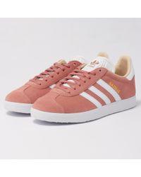 Adidas Originals Pink Gazelle W Sneaker Ashpea/ftwwht/linen