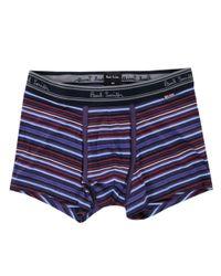 Paul Smith - Blue Paul Smith Purple Varied Stripe Low-rise Boxer Briefs for Men - Lyst
