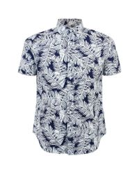 Edwin - Blue Short Sleeve Shirt for Men - Lyst