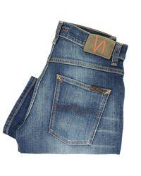 Nudie Jeans   Multicolor Grim Tim Dark Crispy Worn Denim Jeans   Lyst