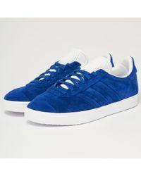 new arrivals b2ee6 9d90c adidas Originals. Mens Blue Gazelle ...