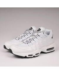 885ee7e0cb86a Nike Air Max 95 - White & Black in White for Men - Lyst