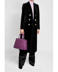 Max Mara - Purple Medium Leather Tote - Lyst