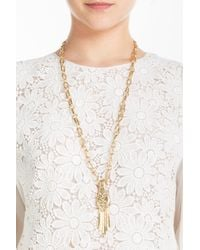 Aurelie Bidermann | Metallic Iroquois Pendant Necklace | Lyst