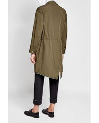 Alexander Wang - Multicolor Embellished Parka With Cotton - Lyst