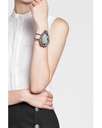 Alexander McQueen - Metallic Ring With Pyrite - Lyst
