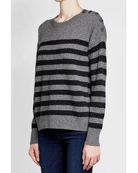 Vince - Multicolor Striped Cashmere Pullover - Lyst