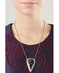 Pamela Love | Metallic Pave Arrowhead Pendant Necklace | Lyst