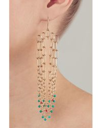 Aurelie Bidermann | Metallic Sioux Gold-plated Pendant Earrings | Lyst