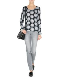7 For All Mankind | Gray Roxanne Jeans | Lyst