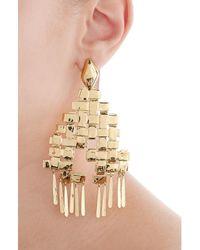 Aurelie Bidermann | Metallic Iroquois 18kt Gold Plated Earrings | Lyst