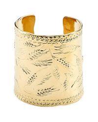 Aurelie Bidermann | Metallic Françoise 18kt Gold Plated Embossed Cuff | Lyst