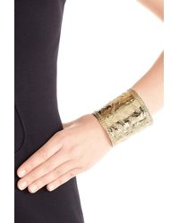 Aurelie Bidermann | Metallic Françoise 18kt Gold Plated Embossed Cuff | Lyst