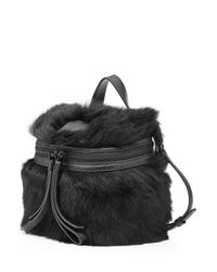Marc By Marc Jacobs - Black Shoulder Bag With Leather And Shearling - Lyst