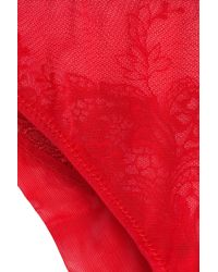 La Perla - Red Lace Briefs - Lyst