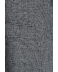 HUGO - Gray Wool-blend Blazer - Lyst