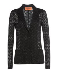 Missoni - Black Crochet Knit Cardigan - Lyst