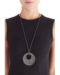 Kenneth Jay Lane | Black Statement Pendent Necklace | Lyst