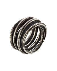 Werkstatt:münchen | Metallic Sterling Silver Wound Words Ring | Lyst