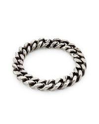 Werkstatt:münchen - Metallic Sterling Silver Curb Chain Tool Traces Bracelet - Lyst
