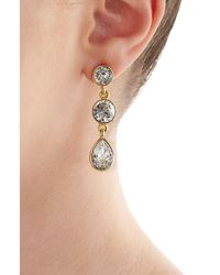 Kenneth Jay Lane - Metallic Embellished Earrings - Lyst