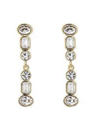 Kenneth Jay Lane | Metallic Jeweled Drop Earrings | Lyst
