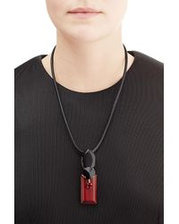 Marni | Black Pendant Necklace | Lyst