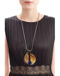 Marni - Metallic Pendant Necklace - Gold - Lyst