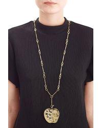 Aurelie Bidermann   Metallic 18kt Yellow Gold-plated Apple Long Necklace   Lyst