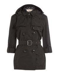 Burberry Brit - Knightsdale Short Hooded Trench Coat - Black - Lyst