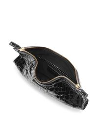 Alexander McQueen | Black De Manta Embossed Leather Clutch | Lyst