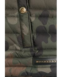 Burberry - Green Printed Down Vest for Men - Lyst