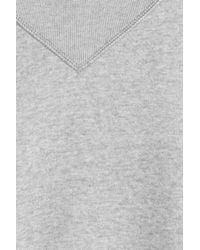 Étoile Isabel Marant - Gray Cotton Sweatshirt With High Neck - Lyst