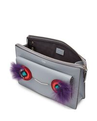 Fendi - Multicolor 2jours Leather Shoulder Bag With Fur - Lyst