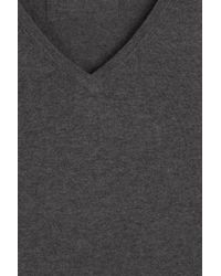 HUGO - Gray Cotton Blend Pullover With Silk And Cashmere for Men - Lyst