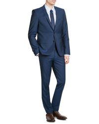 HUGO | Blue Woven Silk Tie for Men | Lyst