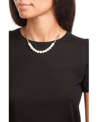 Aurelie Bidermann | Metallic 18kt Gold Plated Necklace With Pearls | Lyst