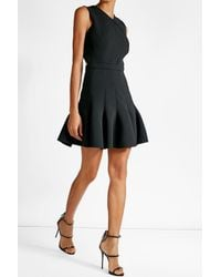 Carven | Black Dress With Pleated Skirt | Lyst