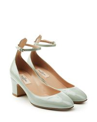 Valentino - Brown Patent Leather Tan-go Pumps - Lyst