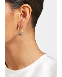 Marc Jacobs - Metallic Embellished Hoop Earrings - Lyst
