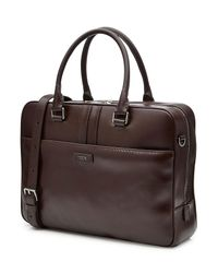 Tod's - Natural Leather Briefcase - Lyst