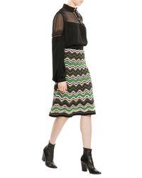M Missoni - Green Crochet-knit Skirt - Lyst