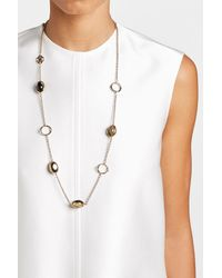 Roberto Cavalli | Metallic Necklace With Stone And Ring Details | Lyst