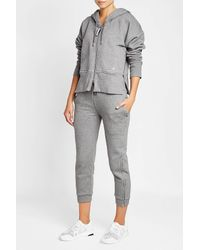 Adidas By Stella McCartney - Gray Essentials Sweatpants With Organic Cotton - Lyst